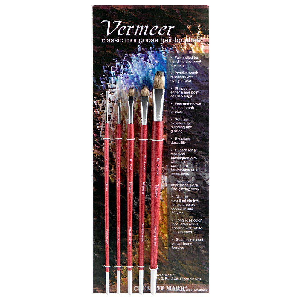 Vermeer Classic Mongoose Hair Brush Explorer Sets Brush