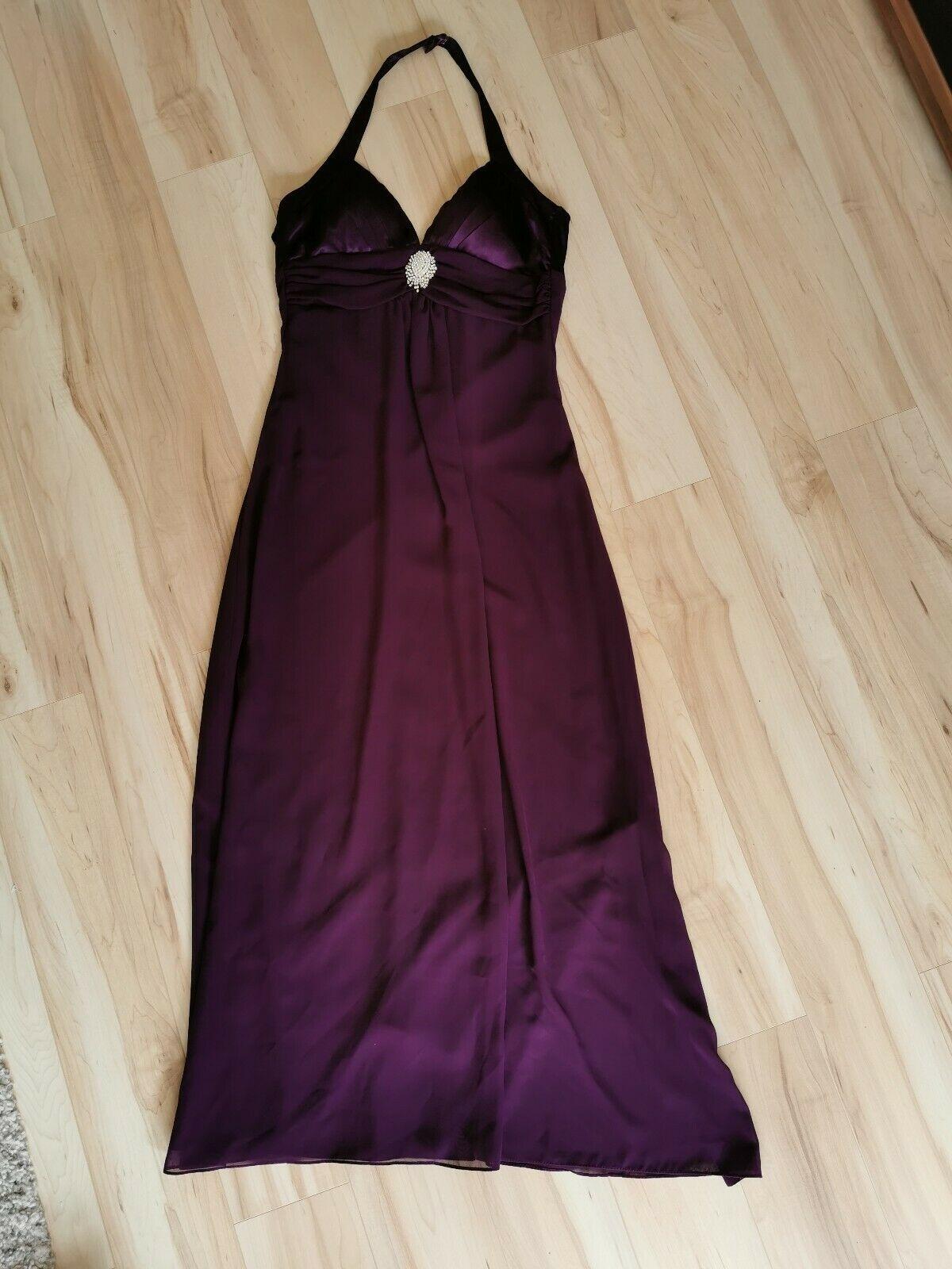 EUREKA Kleid Abendkleid Hochzeitskleid Gr. XS 18 TOP VIOLETT