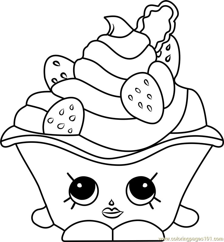 Strawberries And Cream Shopkins Coloring Page Shopkins Colouring Pages Cute Coloring Pages Shopkins Coloring Pages Free Printable