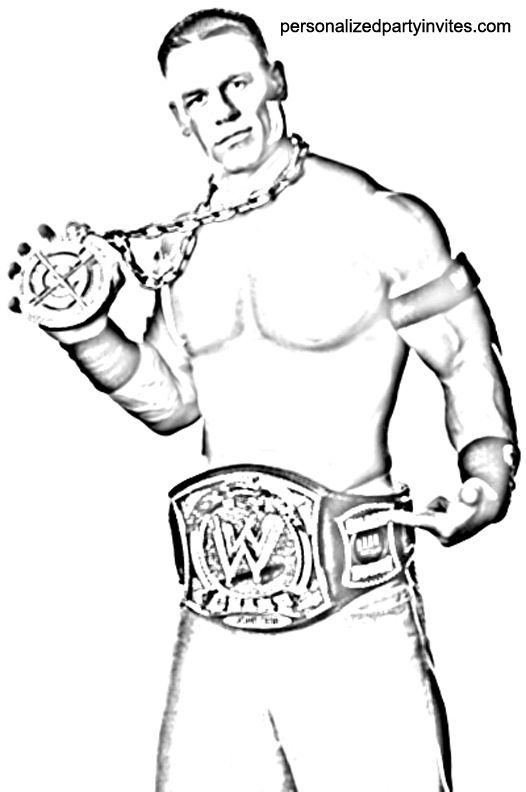 Color Pages Printable John Cena