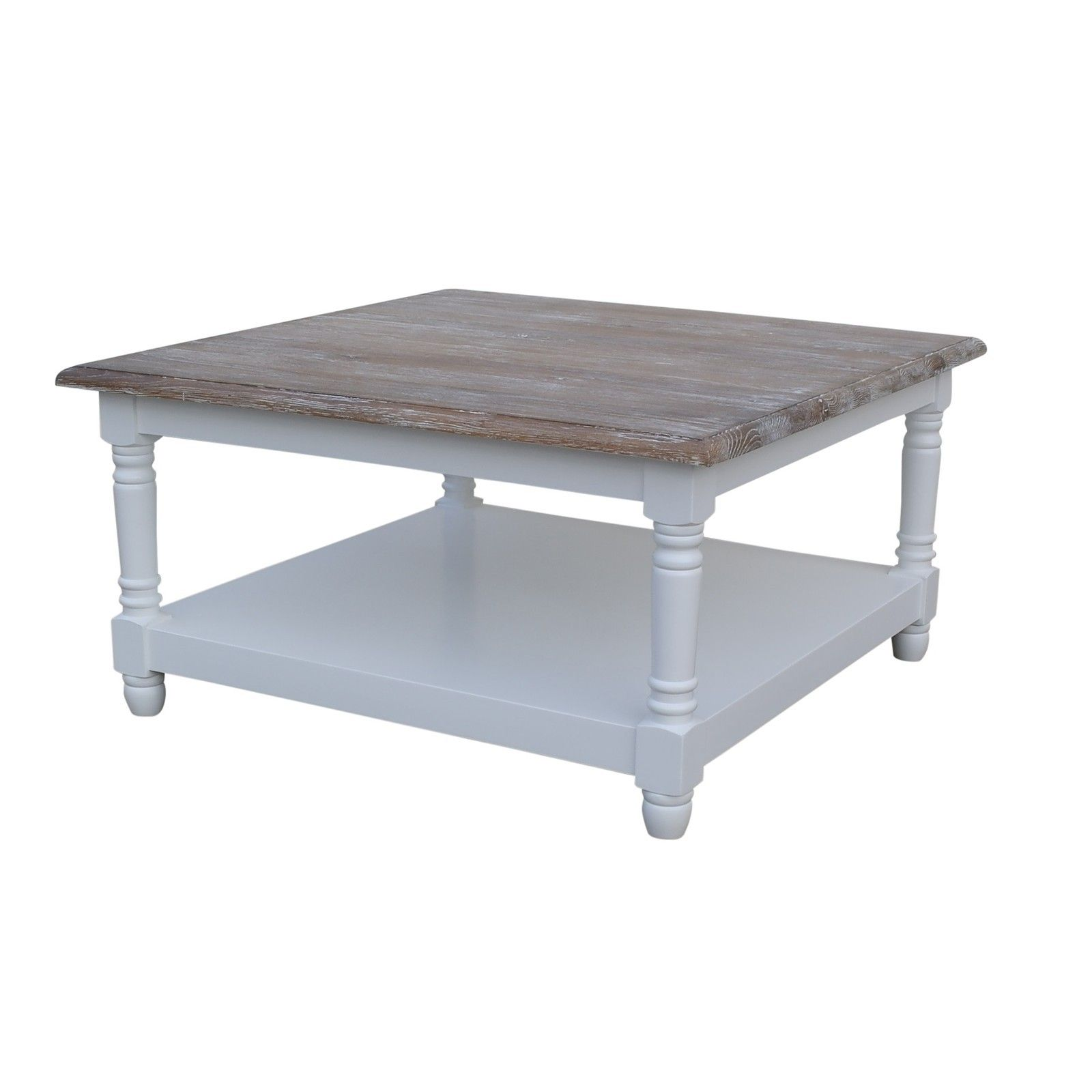 French chateau white square oak coffee table with washed wood top french chateau white square oak coffee table with washed wood top httpwww geotapseo Gallery