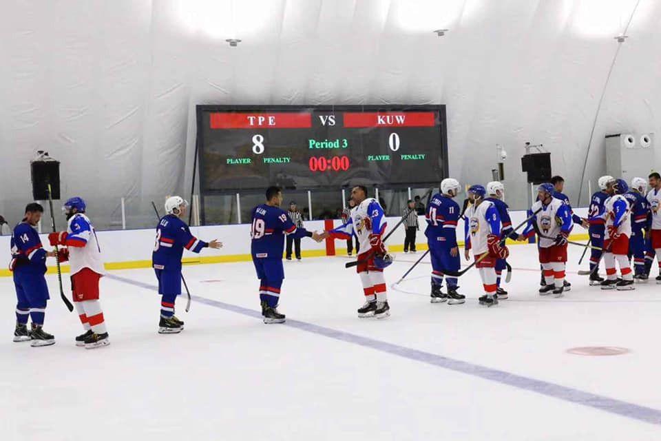 Chinese Taipei win again at Olympic ice hockey pre