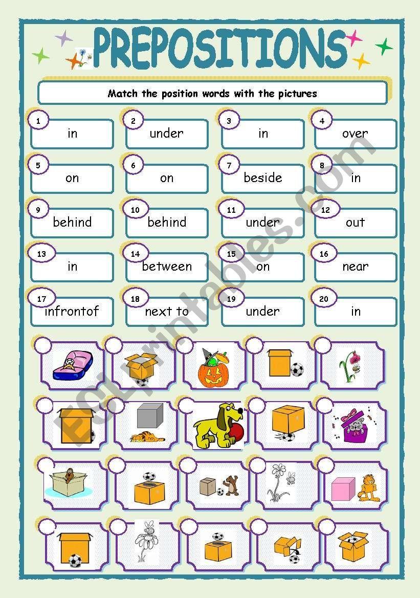 hight resolution of Preposition Worksheet For 6th Grade   Wallpaper Site