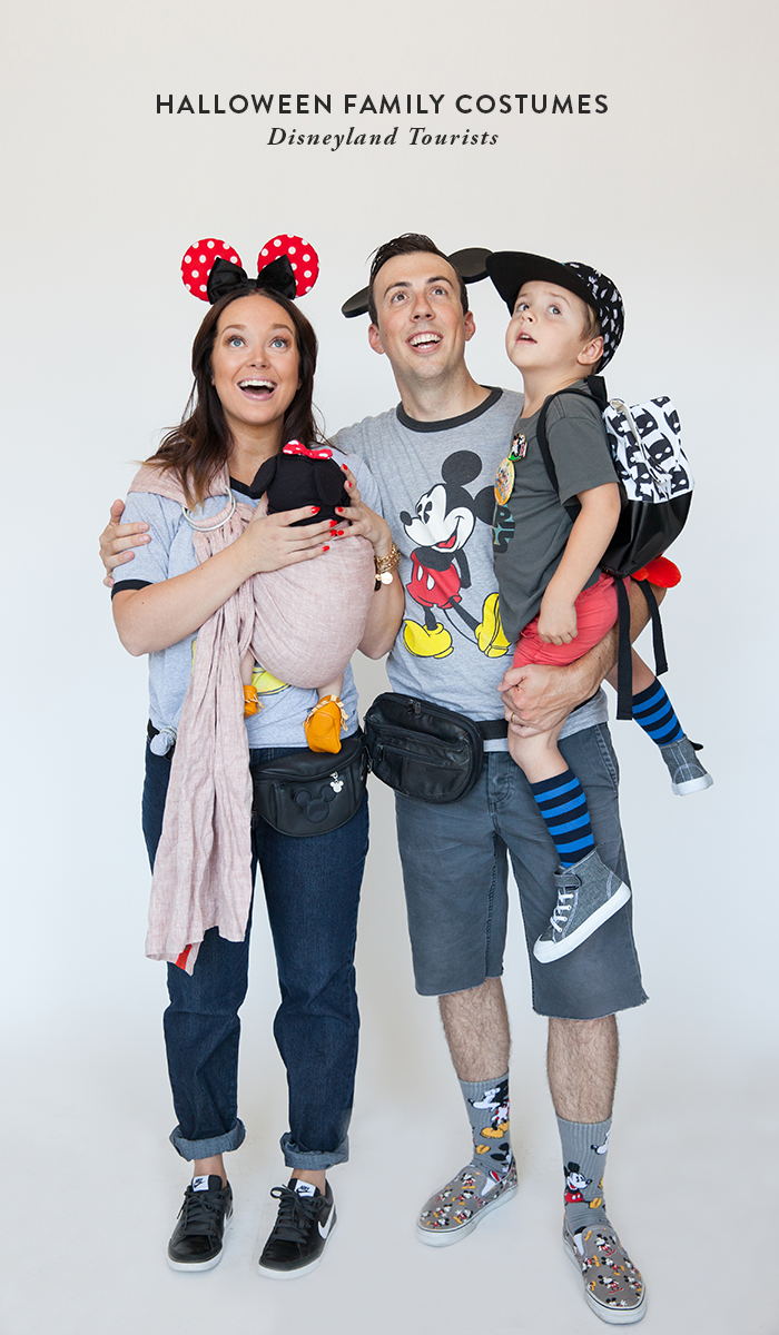 Halloween Family Costumes Disneyland Tourists Family