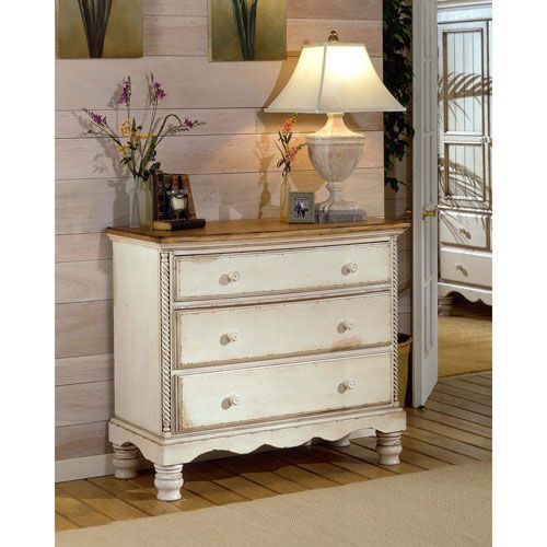Hillsdale Furniture Wilshire Antique White Bedside Chest with