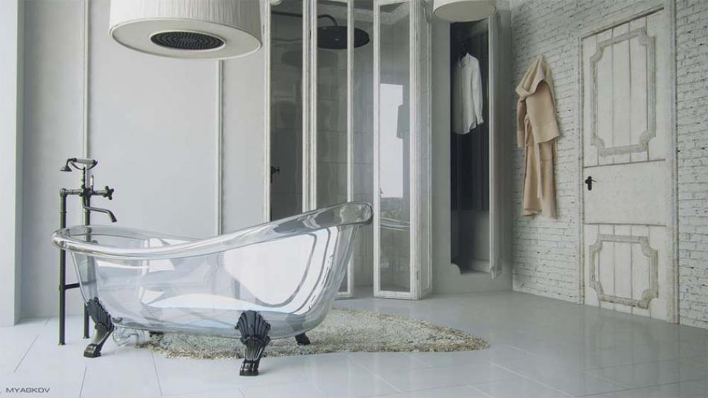 Salle de bain | Salles de bain modernes, Baignoires et Transparent