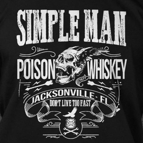 c01f0ba5293 LYNYRD SKYNYRD inspired SIMPLE MAN Poison Whiskey T-shirt