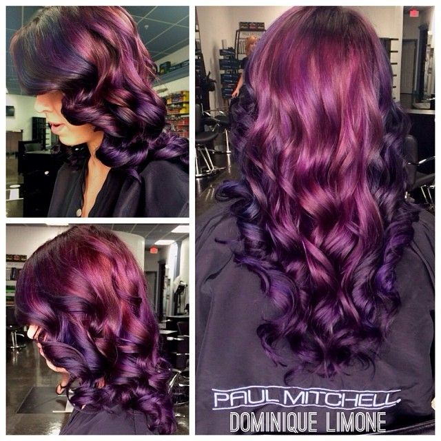 I like the light to dark on the tips.. I am mainly looking for a good purple color for my hair.