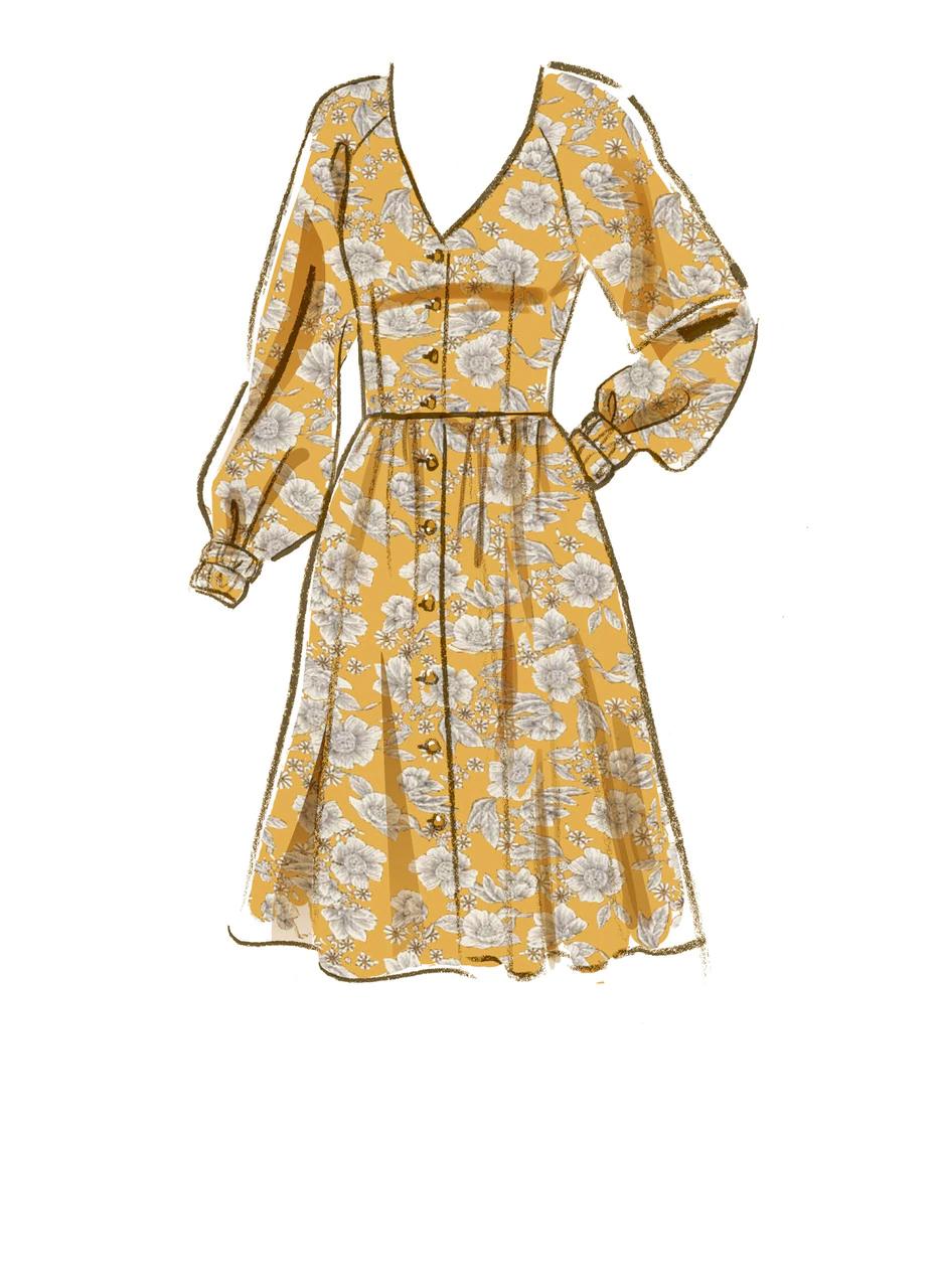 Photo of M8083 | #GiaMcCalls – Misses' Dresses & Belt