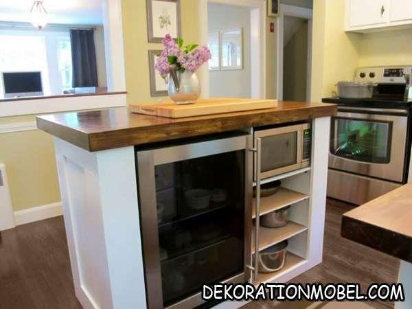 Moderne Küche auf kleinen Raum mit Kücheninsel | Wohnideen ...