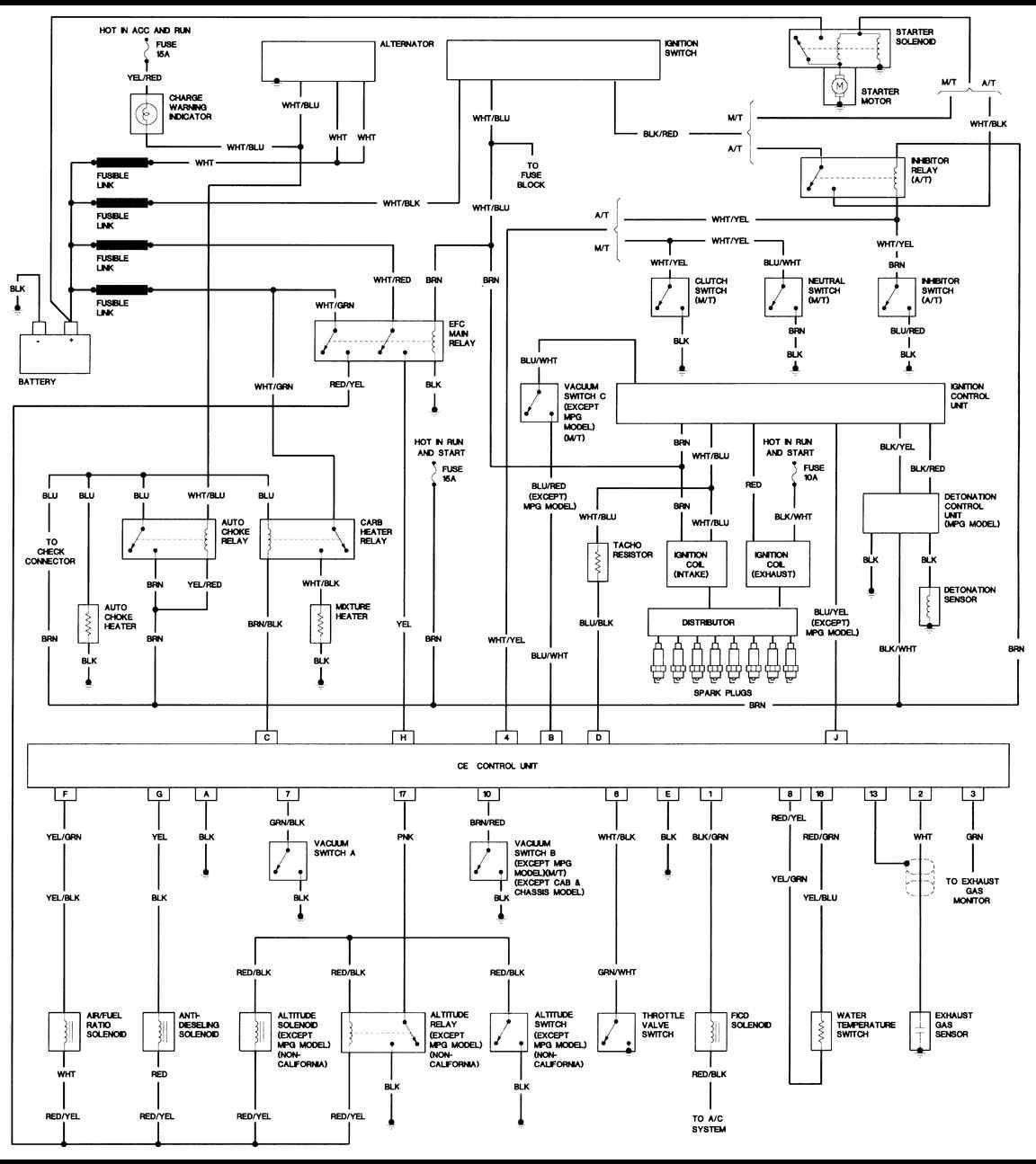 nissan electrical schematics  nissan nissan hardbody