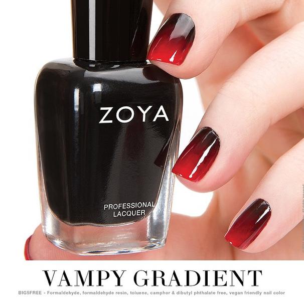 """Vampy Gradient"" by @zoyanailpolish | Nail polish, Zoya ..."