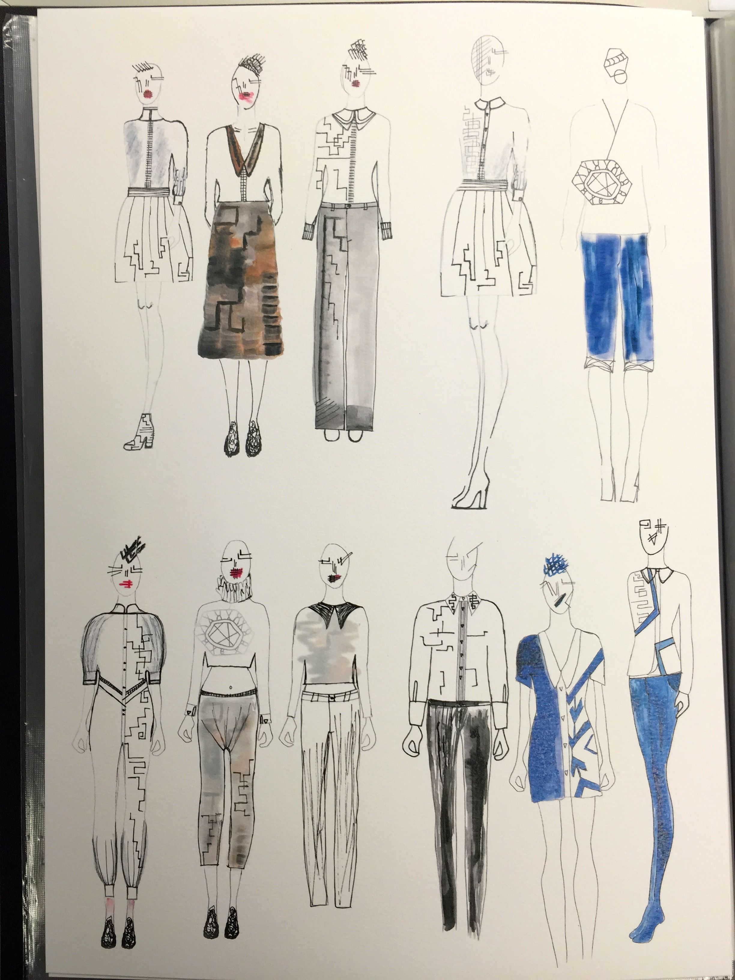 Development Line Up From First Semester Sara I Love This Emerging Style As It Challenges The Perceptions London College Of Fashion Cool Style Fashion Design