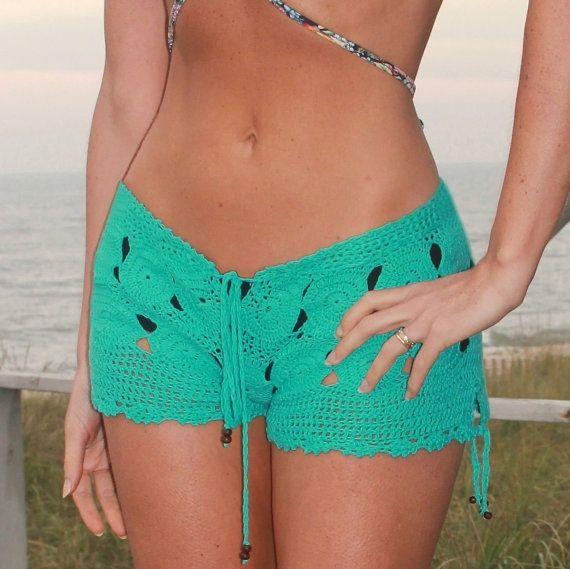 Barbi Hand Crochet Shorts Low Rise Resortwear by CokettaBeachwear