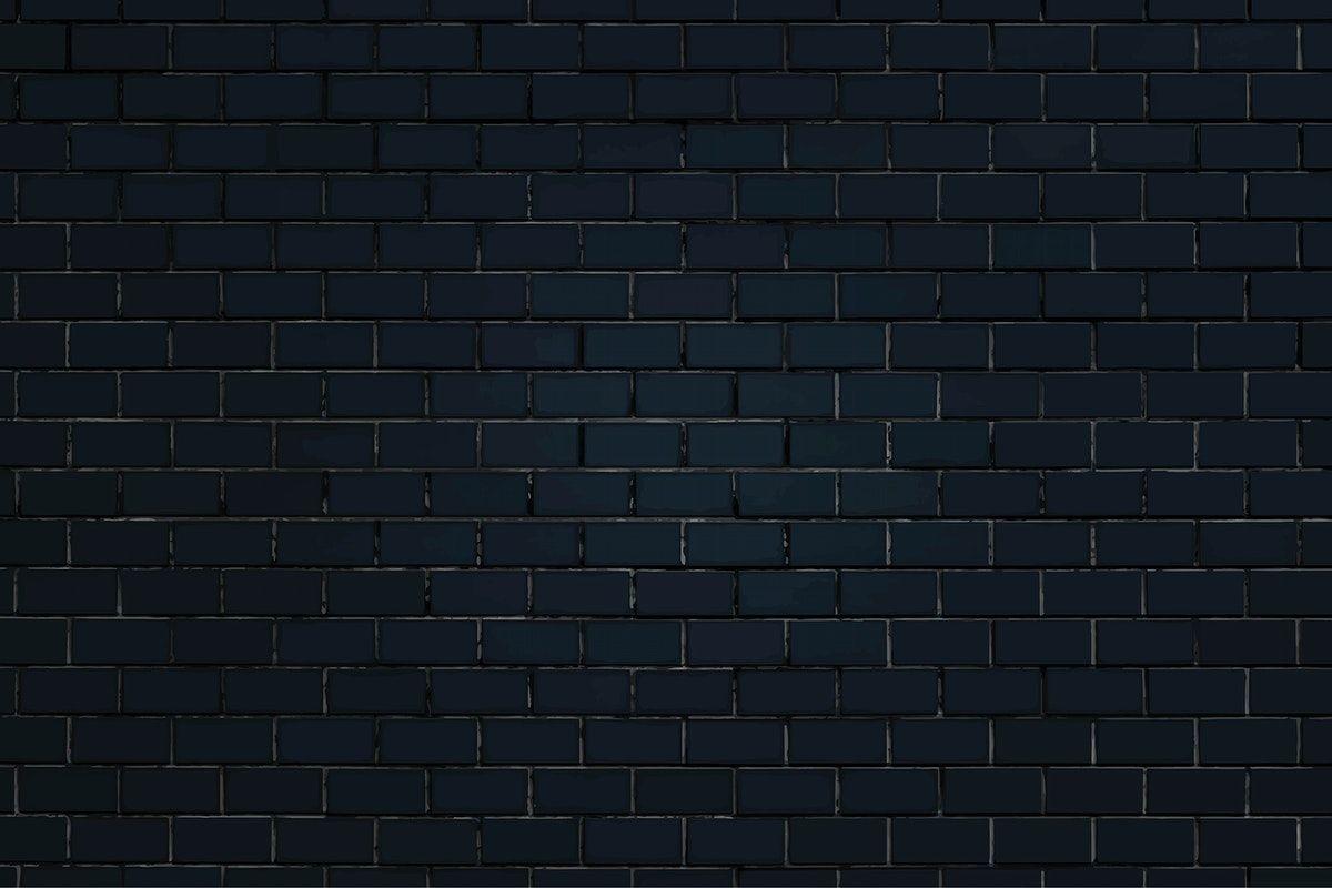Black Brick Wall Textured Background Vector Free Image By Rawpixel Com Chim Black Brick Wall Black Brick Brick Wall