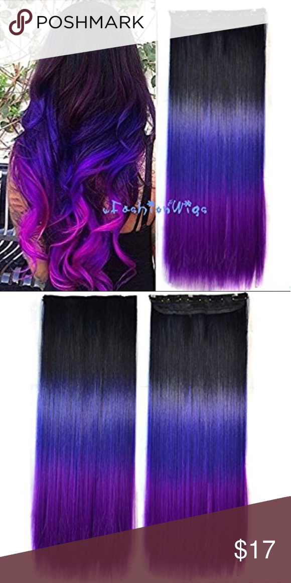 Black To Purple To Grape Ombre Hair Extension Ombre Hair