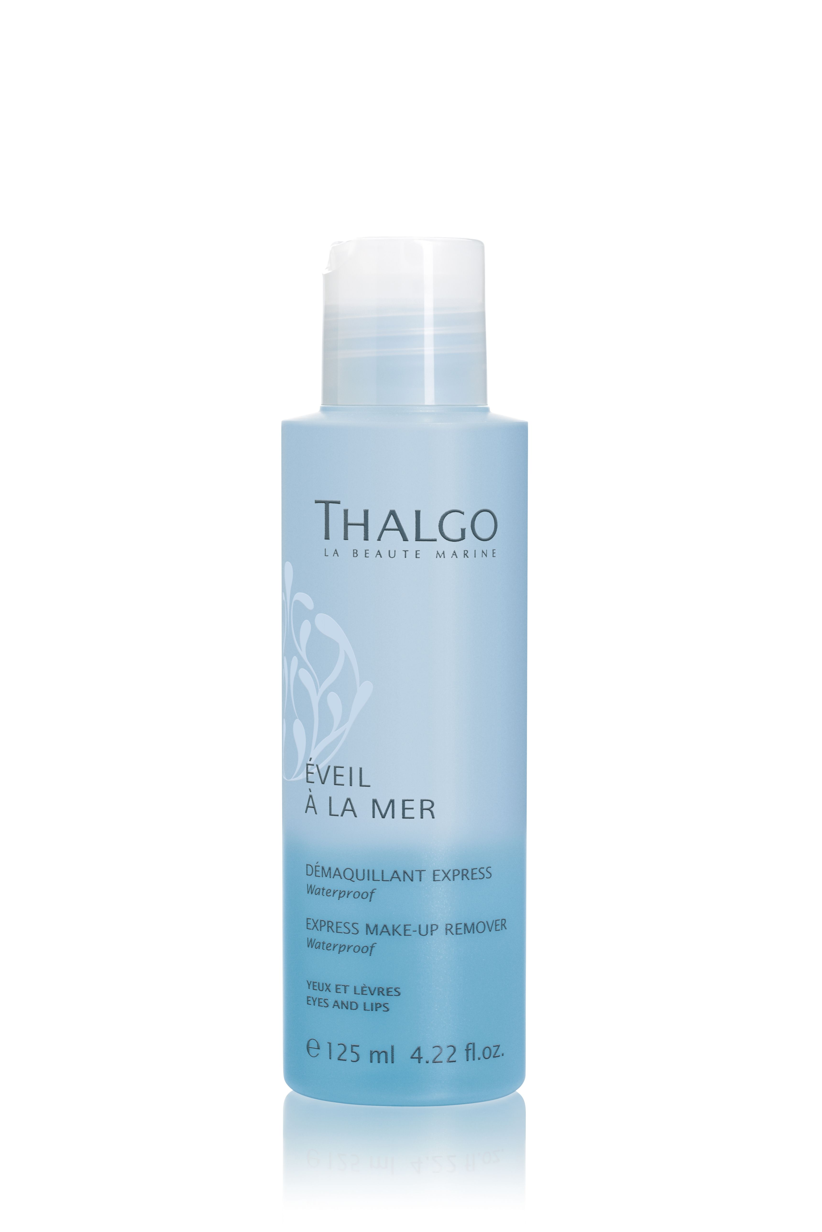 Thalgo Express MakeUp Remover works on all eye and lip