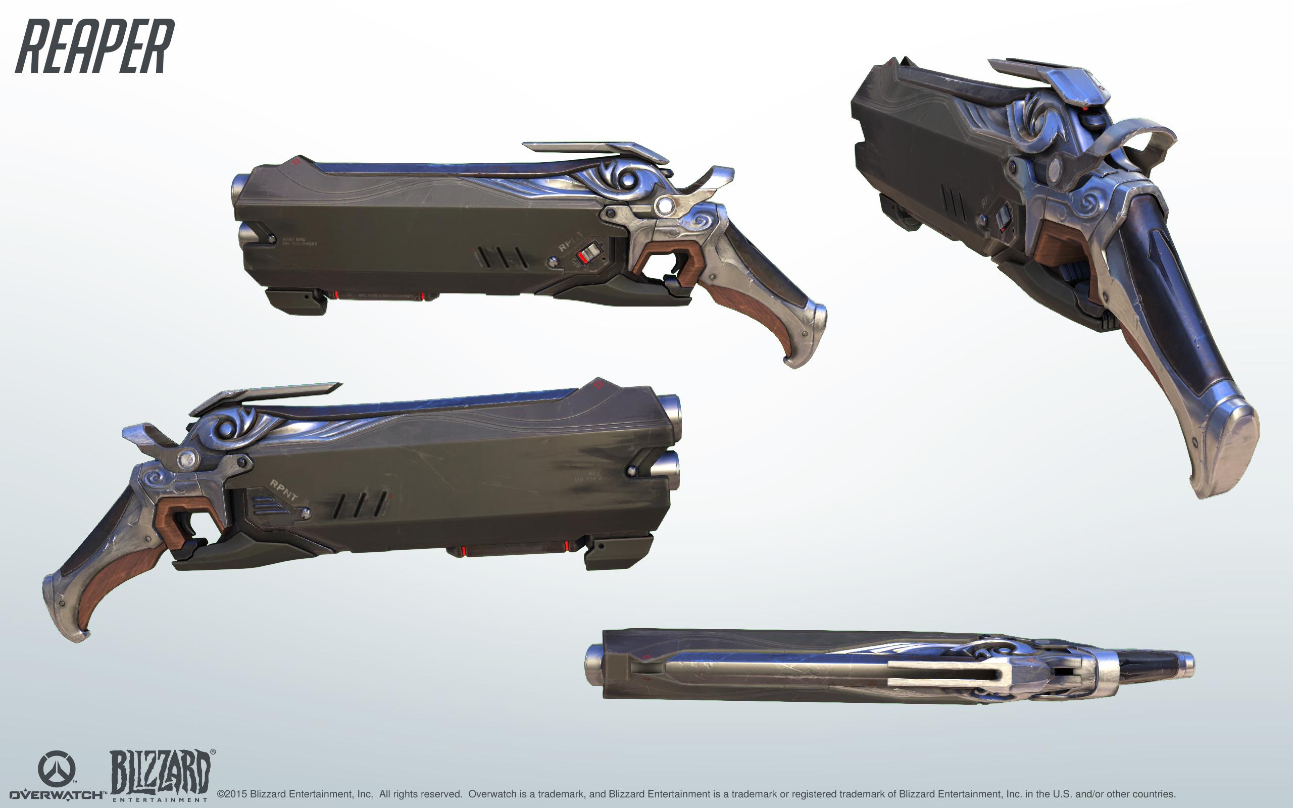 Overwatch OW Reaper Gabriel Reyes Mariachi Golden Two Guns Cosplay Weapon  Prop #overwatch #reaper #GabrielReyesMariachiGoldenTwoGuns #cosplayweapon  ...