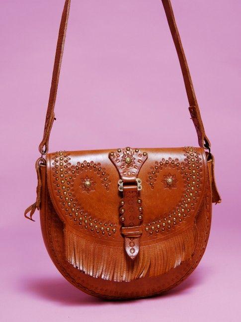 Boho Fashion For Women Over 40 70 S Studded Boho Leather Bag From Mint Vintage Mint Vintage