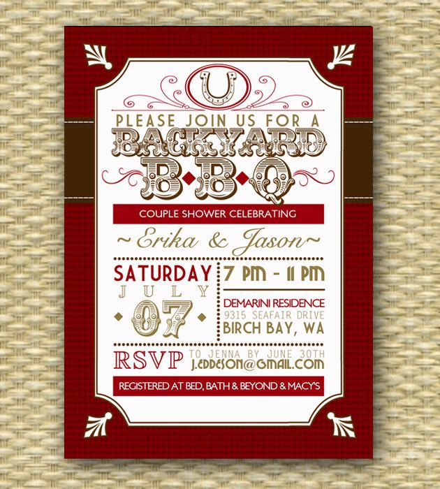 Vintage country western bbq bridal showerwedding or birthday vintage country western bbq bridal showerwedding or birthday invitation typography poster stopboris