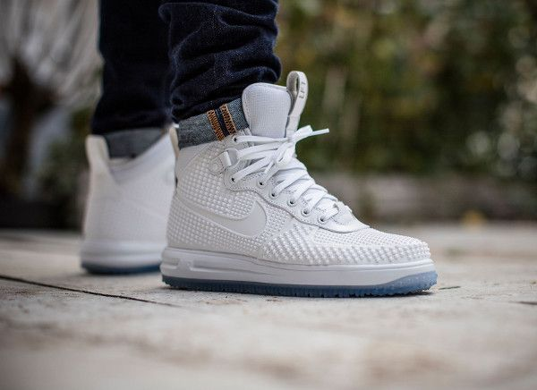 finest selection 03605 e4a1f Nike Lunar Force 1 Duckboot White Ice