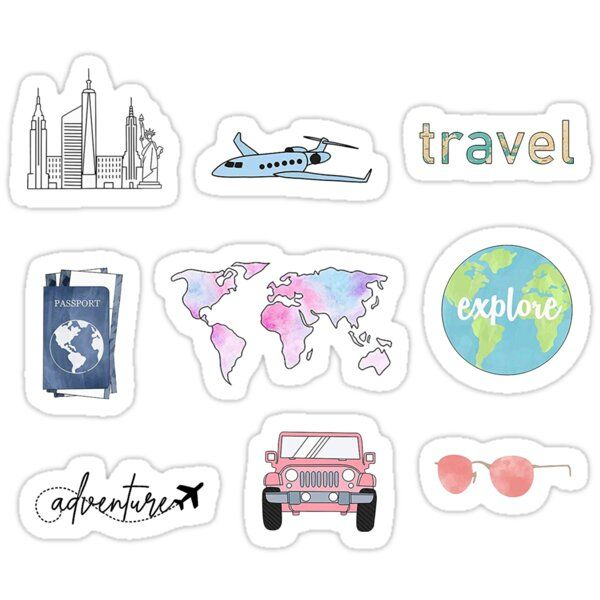 Travel Pack Sticker By Sifasunny In 2020 Homemade Stickers Travel Stickers Print Stickers