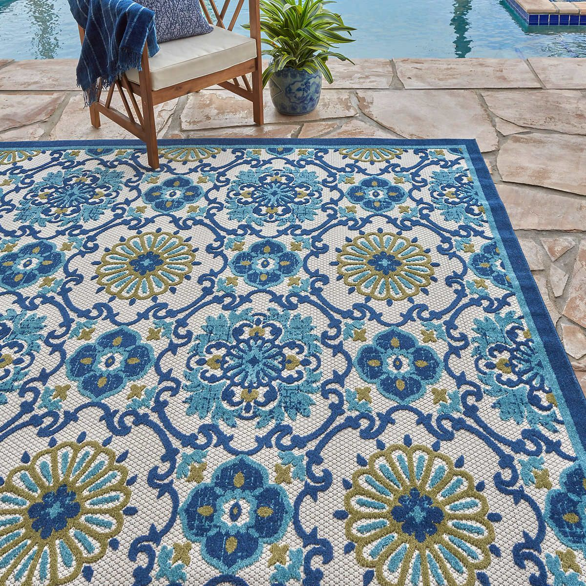 Elements Indoor Outdoor Paros Tile Area Rug Area Rugs Rugs Indoor Outdoor