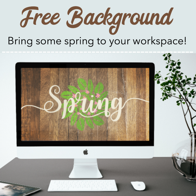 Spring desktop wallpaper background with a wood / shiplap