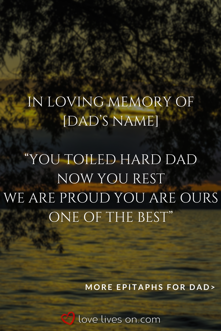 150+ Best Epitaph Examples | grief | Tombstone quotes, Memories quotes, Family quotes