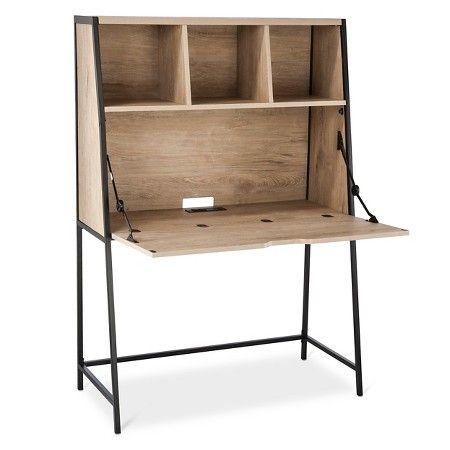 darley secretary desk vintage oak threshold target 126 perfect for hiding computer
