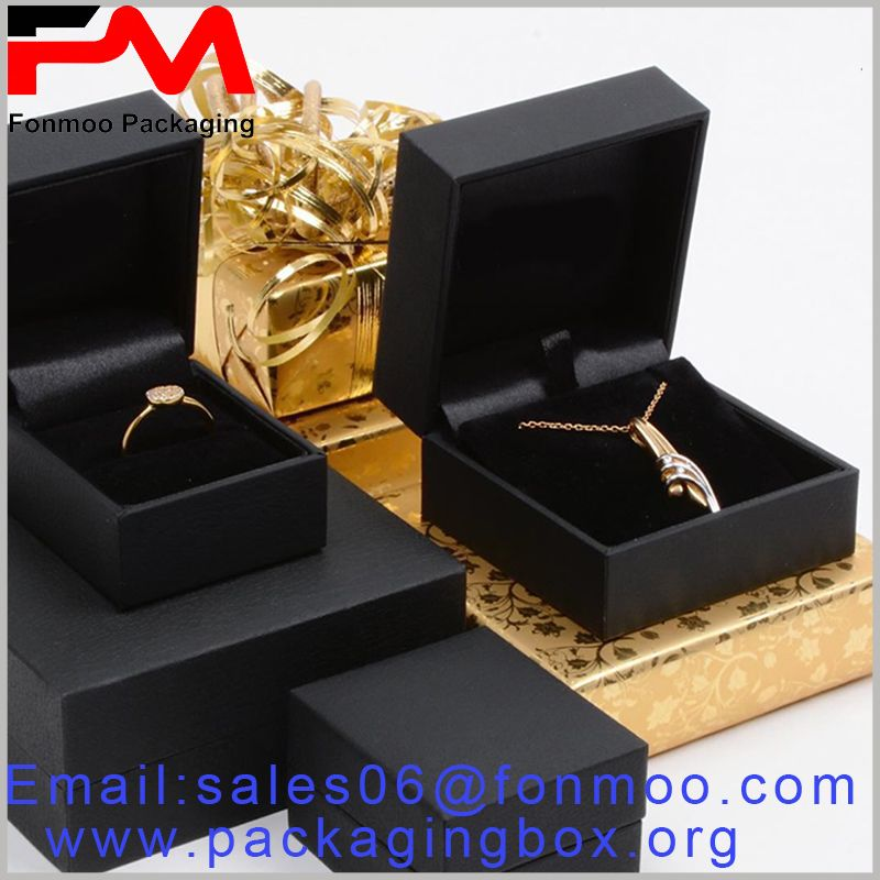 Black Jewellery Packaging Wholesale Including High End Necklace Packaging And Ring Packaging Necklace Packaging Jewelry Packaging Box Packaging
