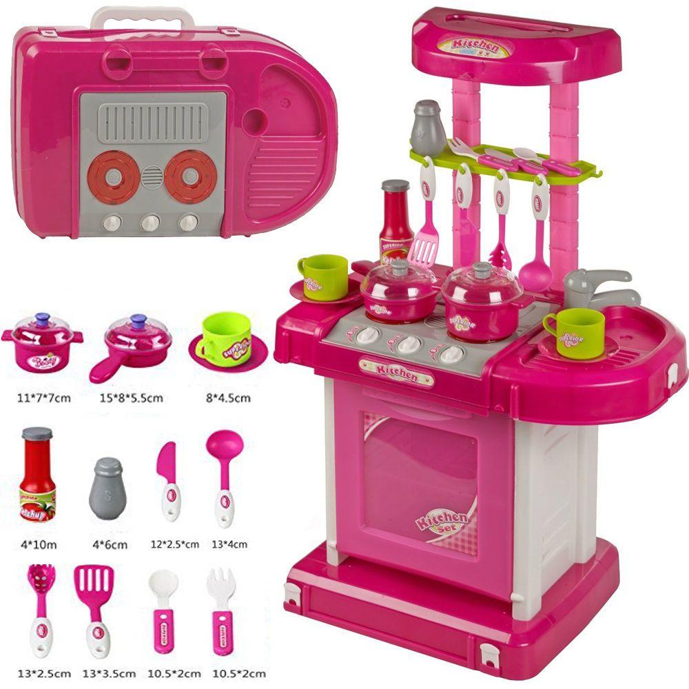 Kids Luxury Battery Operated Kitchen Super Set Toy w