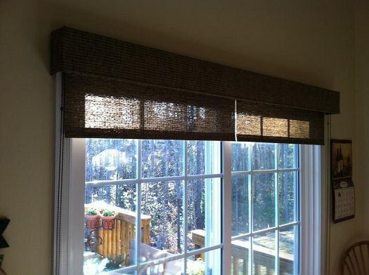 Sliding Door Treatment 2 Separate Roman Blinds Light Color No Top