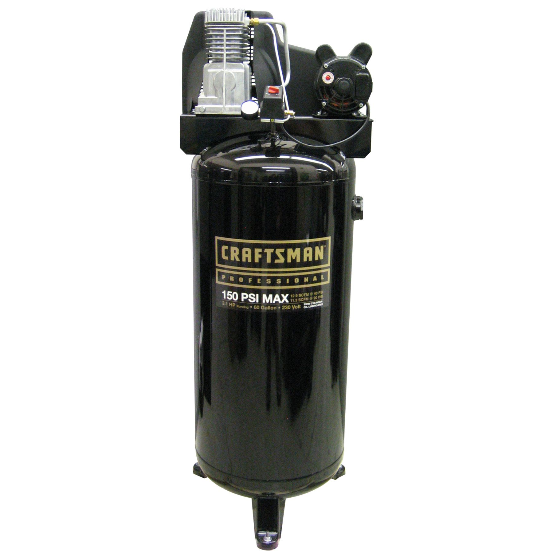 Craftsman 60 gal. OilLubricated Air Compressor, Black