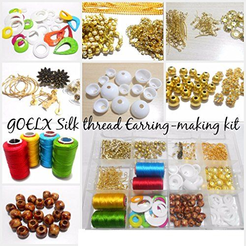 Am Silk Thread Earring Jhumka Making Kit All Materials Makes Diffe Shape Of Earrings With Storage Box