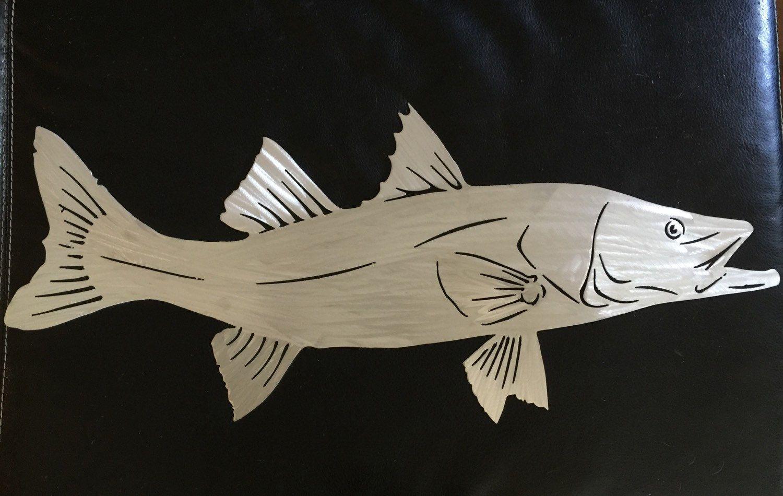 Items Similar To Fish Wall Art Snook Metal Nautical Beach House Decor Ocean Tropical