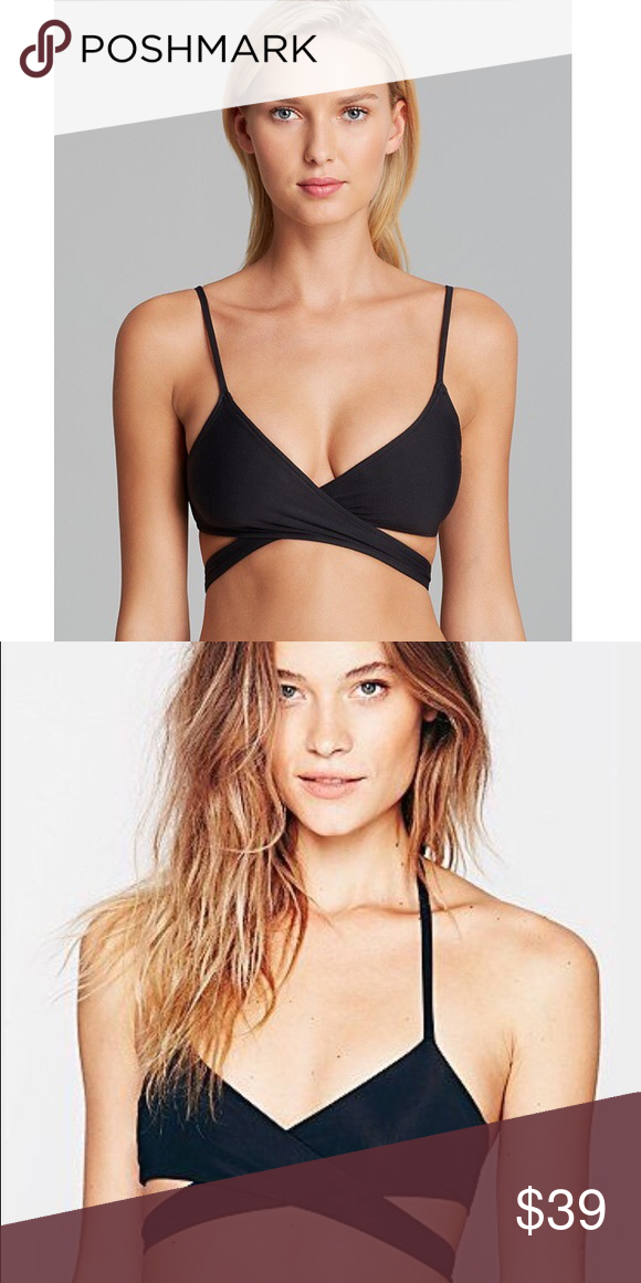 e133e8c438 SOLD OUT Free People wrap bikini! Never worn. Free people black bikini top!