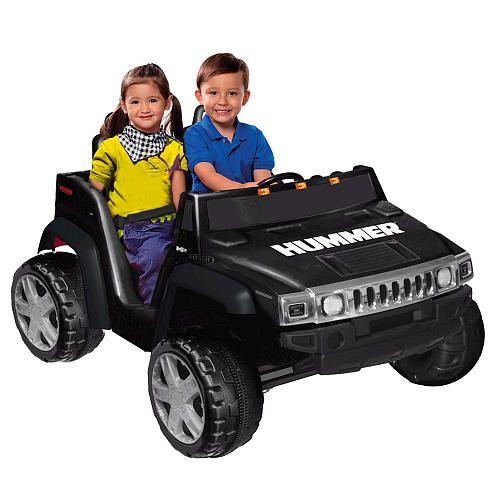 Kidz Motorz 12 Volt H2 Hummer Ride On Two Seater Black Kidz Motorz Toys R Us Power Wheels Jeep Hummer Toy Car