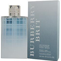 Burberry Brit Summer Eau De Toilette for Men, 3.4 Ounce by Burberry. Save 42 Off!. $32.49. EDT SPRAY. 3.3 OZ/100ML. MEN. NEW IN RETAIL BOX. Burberry Brit Summer for Men is a refreshing, sparkling interpretation of the classic oriental fragrance. The unique top notes combine a blend of fizzy, cold-pressed Lime, juicy Green Mandarin, cool Cardamom, and freshly cut Ginger. Its heart reveals elegant tones of pure Patchouli and vibrant Cedarwood, enhancing the airy floral tones of clear Jasmine…