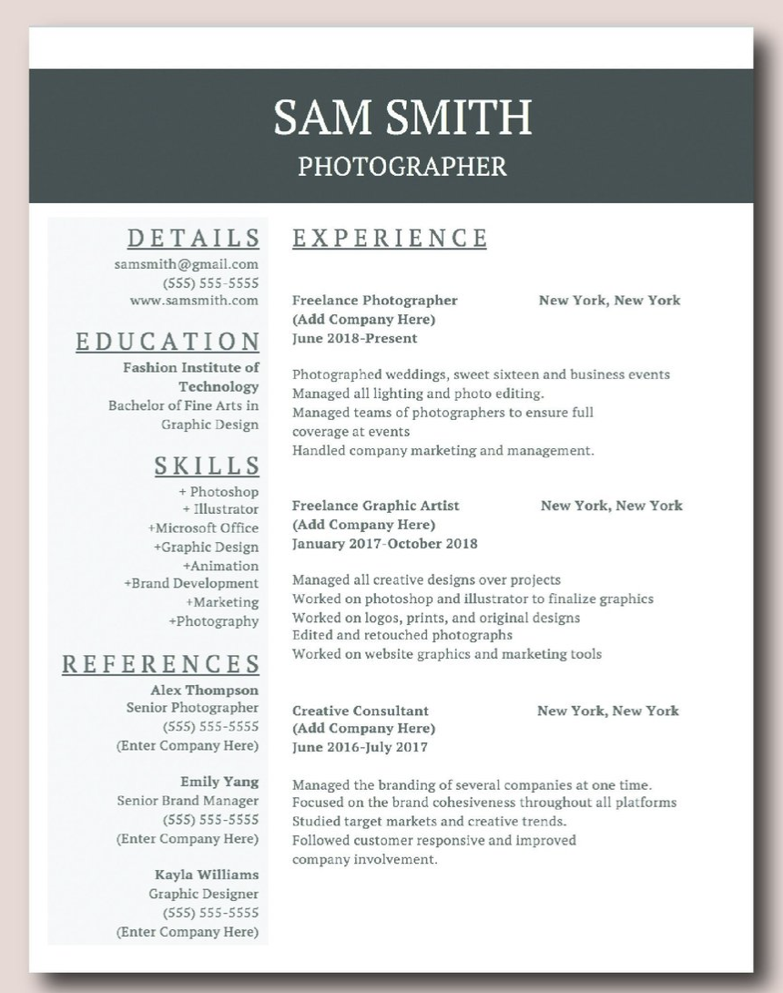 quick and easy resume template download, comes with resume