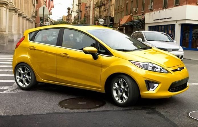 Example Of Yellow Blaze Paint On A 2011 Ford Fiesta Car Car