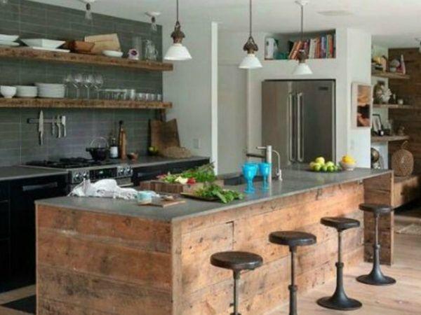 20-mejores-ideas-cocina-americana-marron | Cocina | Pinterest ...