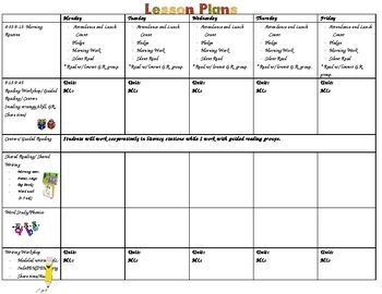 This Template Is What I Use When Creating My Weekly Lesson Pans