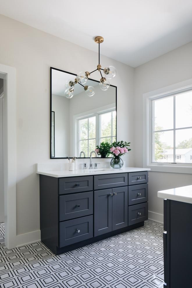 Sherwin Williams Serious Gray Sherwin Williams Serious Gray Cabinet Paint Color This Fl White Quartz Bathroom Quartz Bathroom Countertops White Master Bathroom