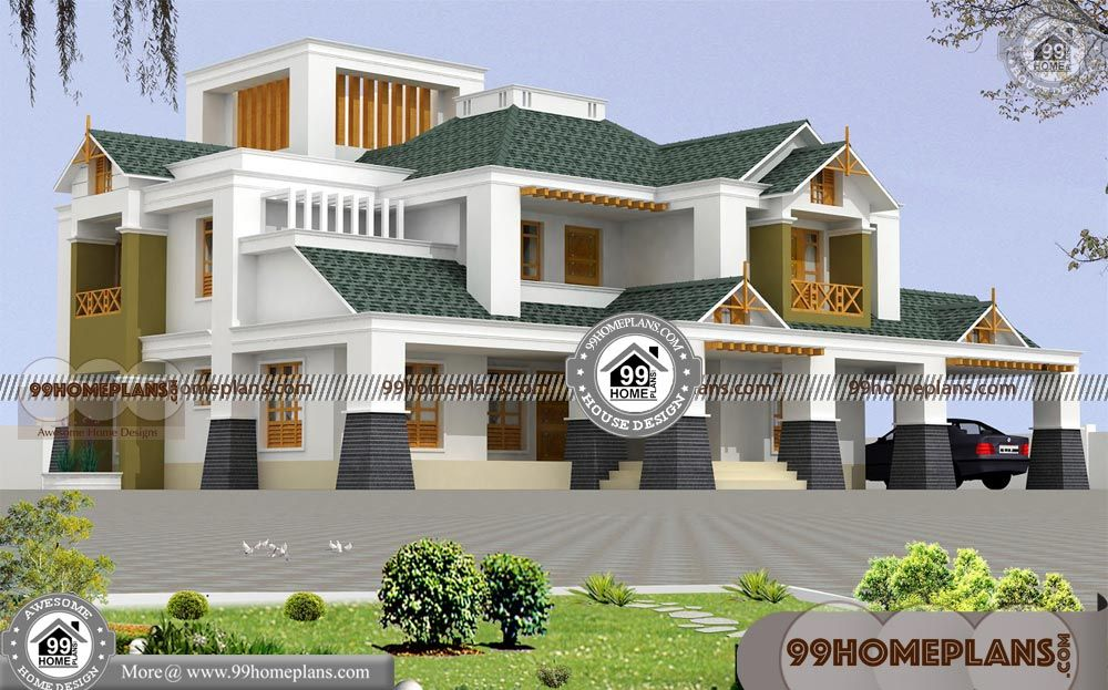 Large Bungalow House Plans With Latest Contemporary House Designs Having 2 Floor 4 Tot Modern Bungalow House Plans House Structure Design Bungalow House Plans