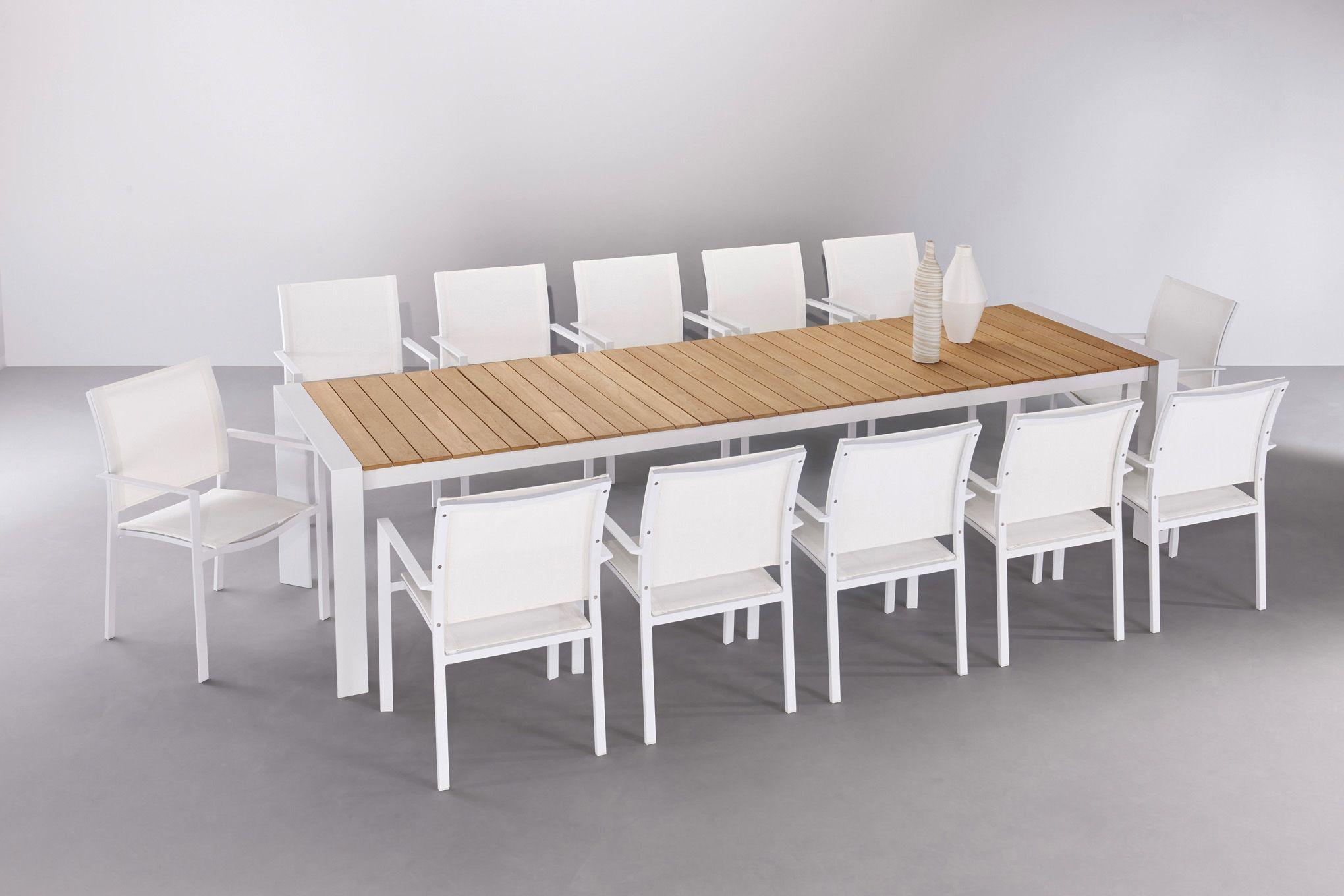 Table de jardin extensible TIGA en aluminium laqué et plateau en ...