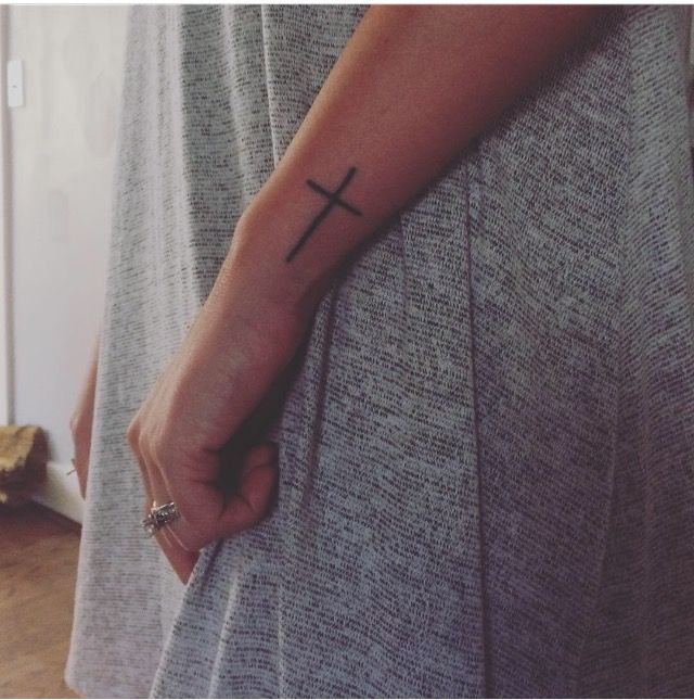 e81e5a3339d64 Side Wrist cross tattoo | Tattoo | Calligraphy tattoo, Tattoos ...