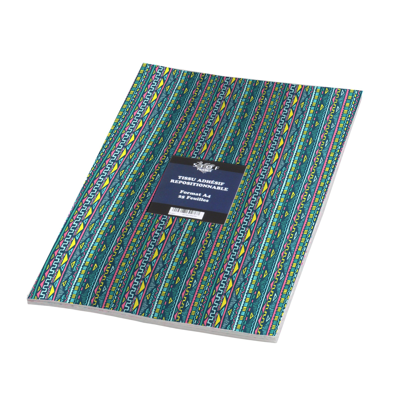 Sticker Adhesif Tissu Maya 21 Cm X 29 7 Cm Tissu Et Maya
