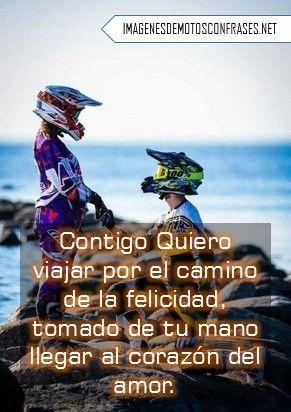 Imágenes De Motos Con Frases Románticas Amor De Motocross