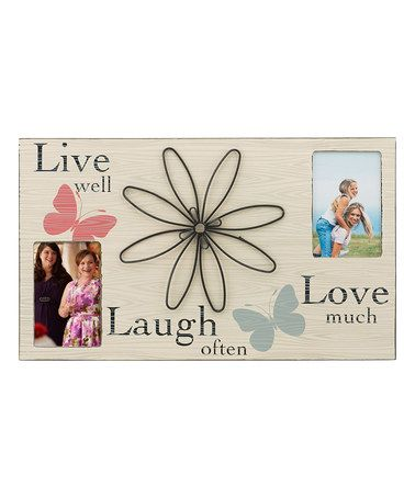 Another great find on #zulily! \'Live Laugh Love\' Collage Frame ...